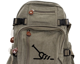 Backpack, Canvas Backpack, Adventure, Hiking Backpack, Travel Bag, Backpack Men, Backpack Women, Camera Bag, Paddle, Personalized Backpack