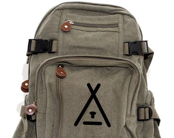Tent Camping - Lightweight Canvas Backpack
