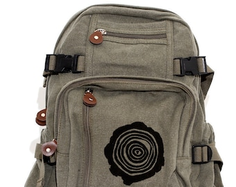 Tree Rings - Lightweight Canvas Backpack