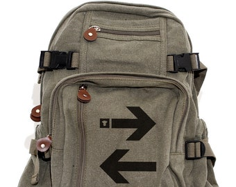 Subway Arrows - Lightweight Canvas Backpack