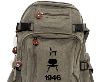 Backpack, Canvas Backpack, Small Backpack, School Backpack, Backpack Men, Backpack Women, College Backpack, Eames Chair, Back to School