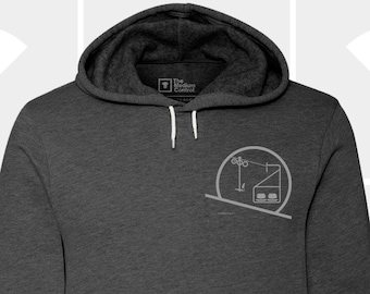 Sunset/Sunrise Chairlift Badge Unisex Hoodie