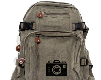Iconic Camera - Lightweight Canvas Backpack