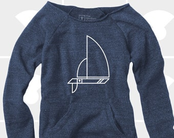 Sailboat - Women's Slouchy Sweatshirt
