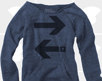 Travel Arrows - Women's Slouchy Sweatshirt