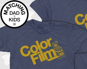 Matching Dad and Me Shirts - Color Film