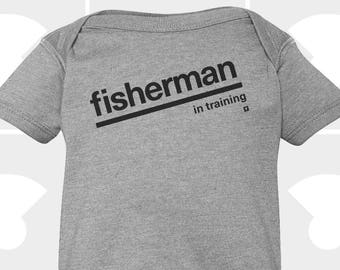 Fisherman In Training - Baby Onesie