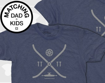 Matching Dad and Me Shirts - Skateboard Elements
