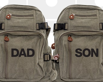 Backpack, Personalized Backpack, Father Son Matching, Personalized Gift for Dad, Kids Backpack