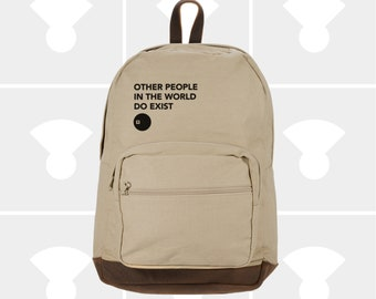 Other People - Leather Bottom Laptop Backpack