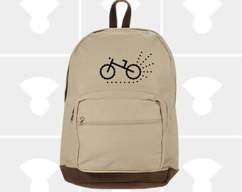 Biking - Leather Bottom Laptop Backpack
