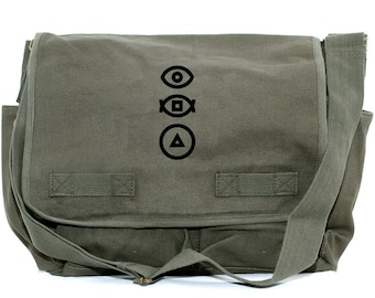 Messenger Bag | BAUHAUS | Gift for Men | Camera Bag | Crossbody | Travel | Hipster | Diaper | Shapes | Mens Messenger | Gift for Boyfriend
