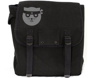 Kung Fu Watson the Cat - Basic Canvas Backpack
