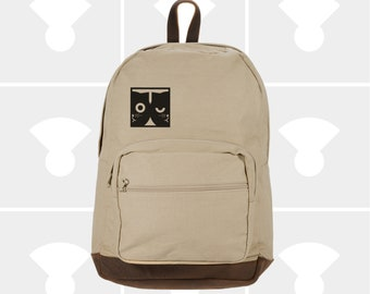 Dueling Watson the Cat - Leather Bottom Laptop Backpack