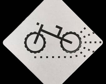Mountain / Dirt / Fat Tire Bike - Letterpress Coaster Set