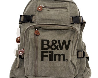 B&W Film - Lightweight Canvas Backpack