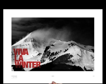 Viva La Winter, Big Sky Art Print