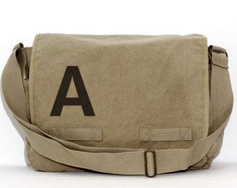Letter Messenger Bag, Monogram Bag, Personalized Bag, Initial Bag Crossbody Canvas Bag, Personalized Diaper Bag, Groomsmen Gift