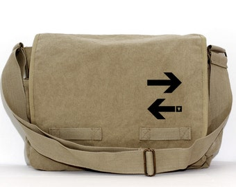 Messenger Bag | Subway ARROWS | Gift for Men | Camera Bag | Crossbody Bag | Travel | Large | Work Gift | Gift for Women | Gift for Boyfriend
