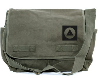 Messenger Bag Bauhaus Eye (Men & Women) Crossbody Large Canvas Bag, Laptop Messenger Bag, Men's Messenger Bag