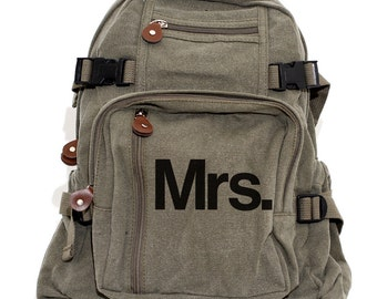 Mrs. - Women's Canvas Backpack