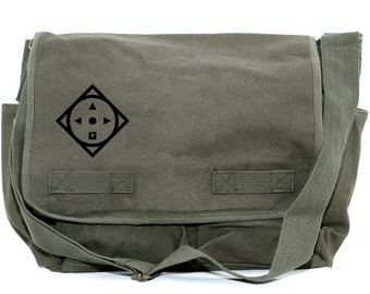 Messenger Bag | COMPASS | Gift for Men | Camera Bag | Crossbody Bag | Travel | Large | Commuter | Mens Messenger | Gift for Boyfriend