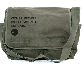 Messenger Bag, Other People, Laptop Messenger Bag, Crossbody Canvas Bag, Typography, Camera Bag, Men Messenger, Women Messenger Bag