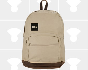 Bauhaus Block - Leather Bottom Laptop Backpack