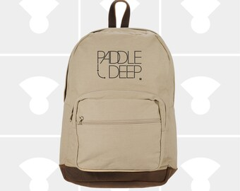 Paddle Deep - Leather Bottom Laptop Backpack