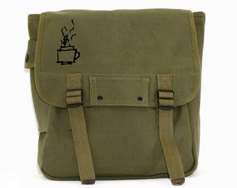 Coffee / Tea - Simple Canvas Backpack