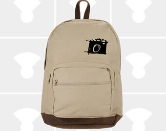Sketch Camera - Leather Bottom Backpack