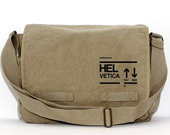 Messenger Bag | HELVETICA | Gift for Men | Camera Bag | Crossbody Bag | Travel | Typography Gifts | Men Messenger | Gift for Husband