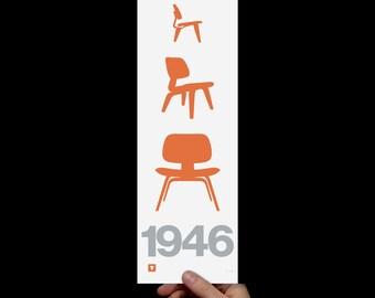 Print: Eames 1946 Screenprint Art Print (Prints & Posters)