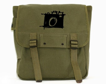 Sketch Camera - Simple Canvas Backpack