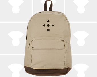 Bauhaus Compass - Leather Bottom Laptop Backpack
