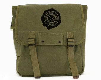 Tree Rings - Simple Canvas Backpack