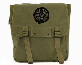 Tree Rings - Simple Canvas Backpack