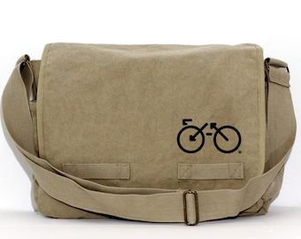 Messenger Bag | BIKE | Gift for Women | Camera Bag | Crossbody | Travel Canvas Bag | Large | Biking Gift | Gift for Men | Gift for Husband
