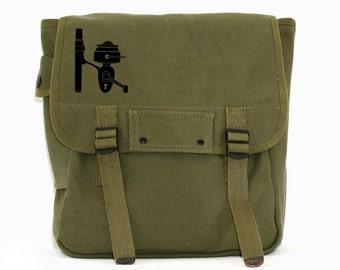 Fishing Reel - Simple Canvas Backpack