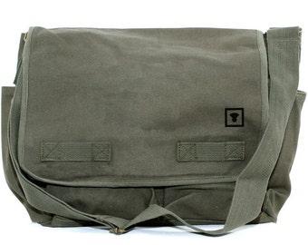 Travel Bag: Messenger Bag - Canvas Messenger Bag - Personalized Bag