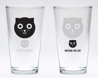 Watson the Cat Pint Glass