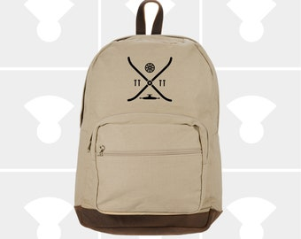 Skateboard Elements - Leather Bottom Laptop Backpack