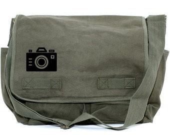 Messenger Bag | Iconic CAMERA | Gift for Men | Camera Bag | Crossbody Bag | Travel | Large | Laptop | Mens Messenger | Gift for Boyfriend