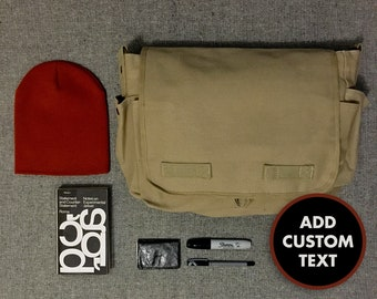 Printed Personalized Canvas Messenger Bag, Tote Bag, Shoulder Bag - Logo, Text, Slogan, Business promotional, Bulk buy, Wholesale Bags