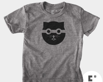 Bandit Cat - Boys & Girls Unisex TShirt