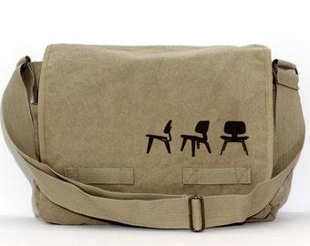 Messenger Bag, Eames Plywood Chairs, Crossbody Large Canvas Bag, Laptop Messenger Bag, Men's Messenger Bag, Women's Messenger Bag