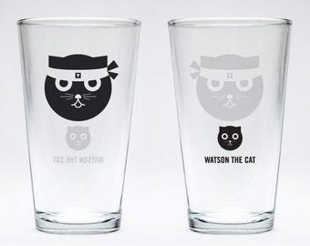 Kung Fu: Watson the Cat Pint Glass