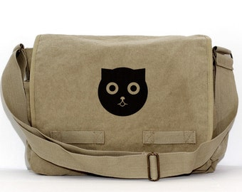 Messenger Bag | CAT | Kawaii | Gift for Women | Camera Bag | Crossbody | Travel | Large | Gift for Girl | Sister | Daughter | Cat Gifts