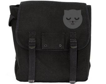 Sleepy Watson the Cat - Basic Canvas Backpack
