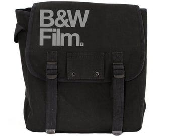 Black & White Film - Simple Canvas Backpack